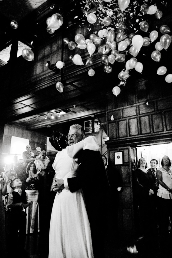 Documentary Wedding Photographer Hampshire at Layla & Paul's first dance.