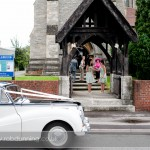 Sam arrives at Millbrook Trinity Church, Southampton.