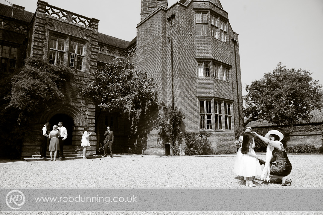 New Place Wedding Photography - Outside the manor house