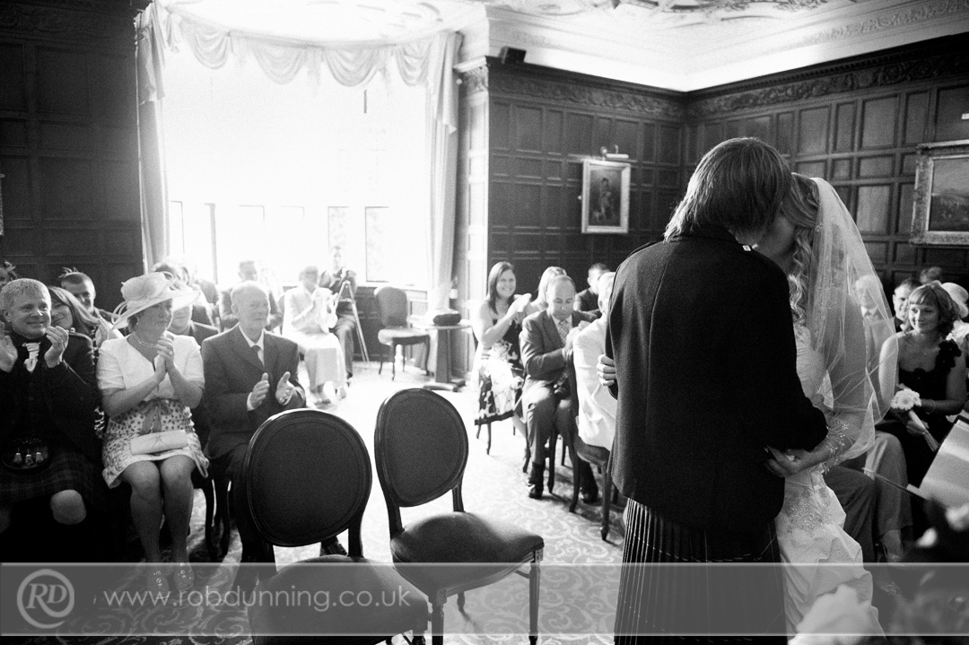New Place Wedding Photography - Wedding photos during the ceremony in the Bristol Room.