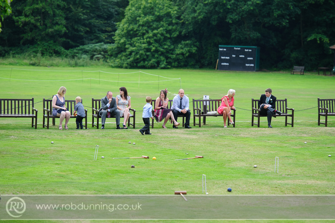 New Place Wedding Photography - Guests enjoying the grounds at New Place