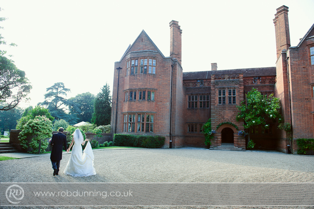 New Place Wedding Photography - Bride & Groom portraits outside of the venue for portraits.