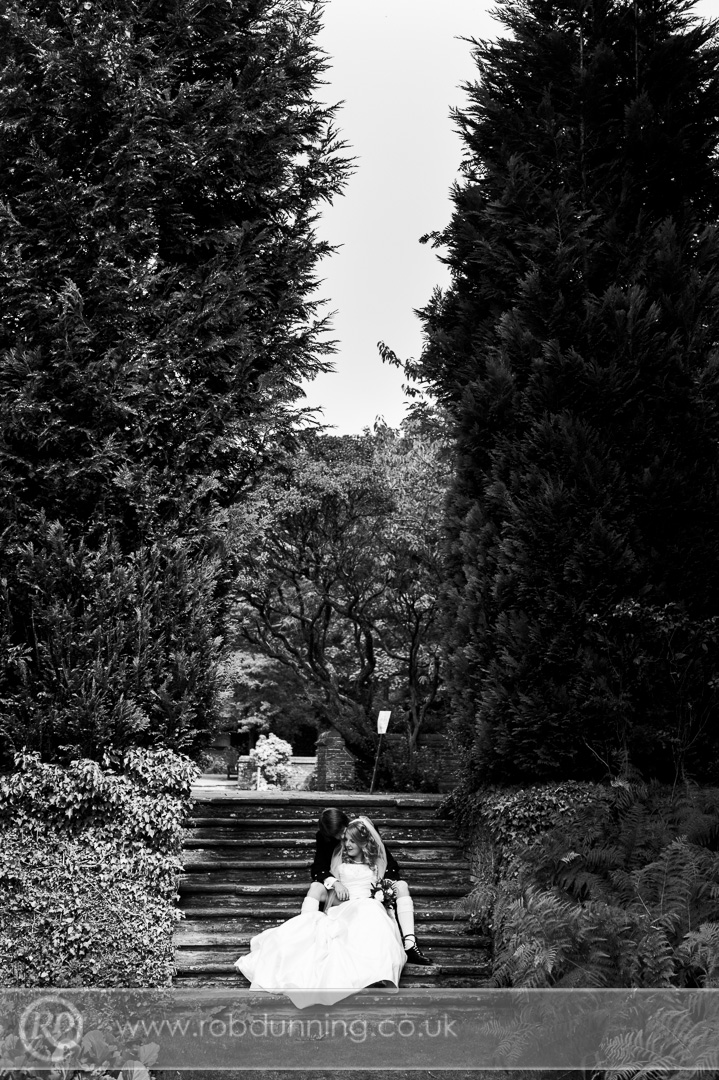 New Place Wedding photography - Bride & Groom portraits in the grounds at New Place.