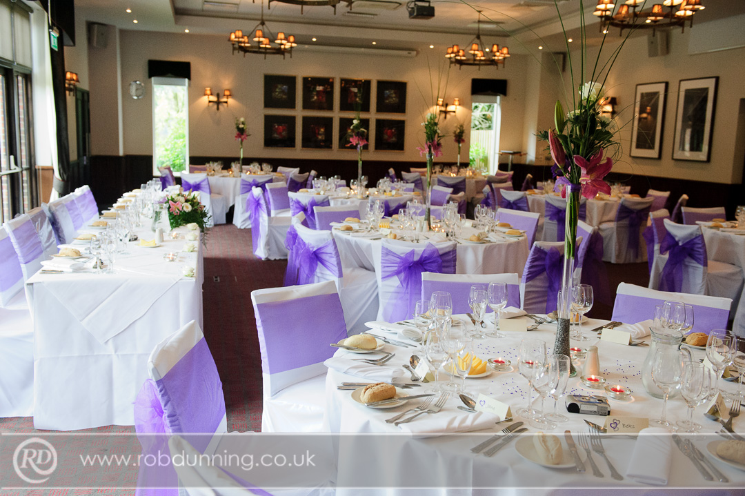 Purple wedding theme in The Arden Suite New Place Wedding Photography