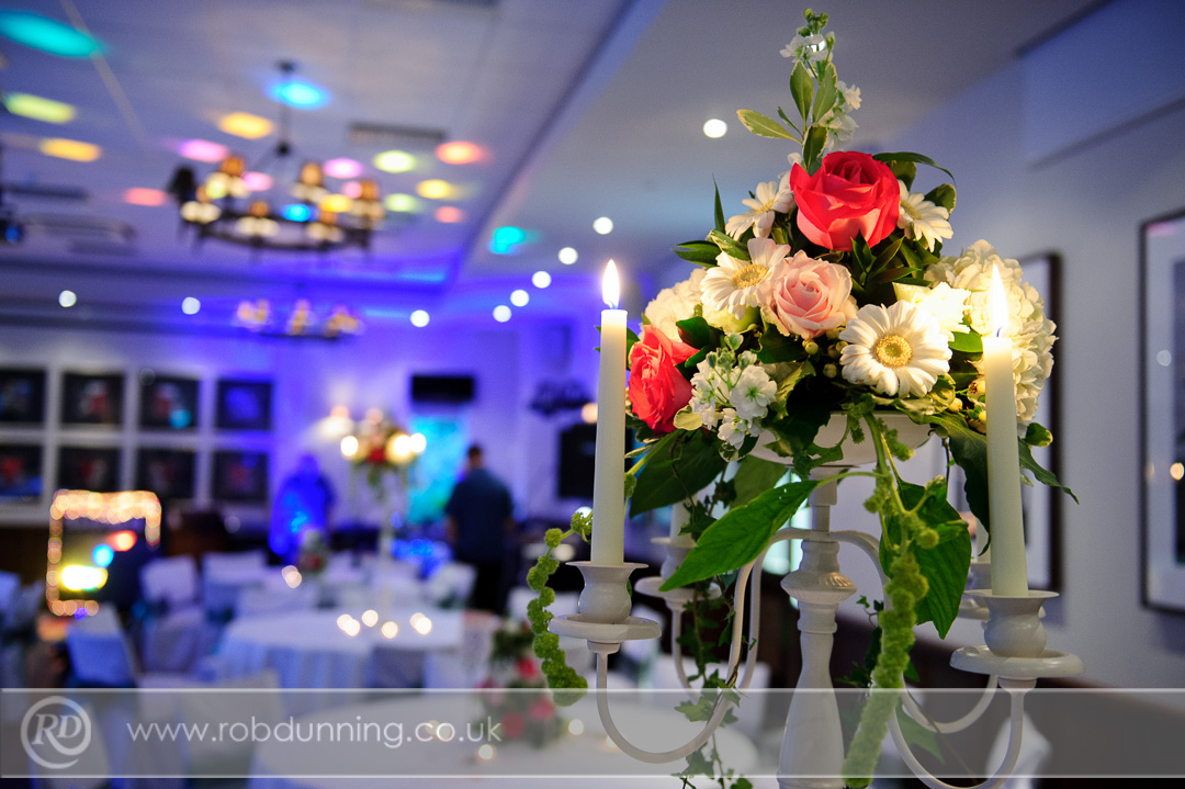 The Arden Suite set-up for evening wedding celebrations -New Place Wedding Photography