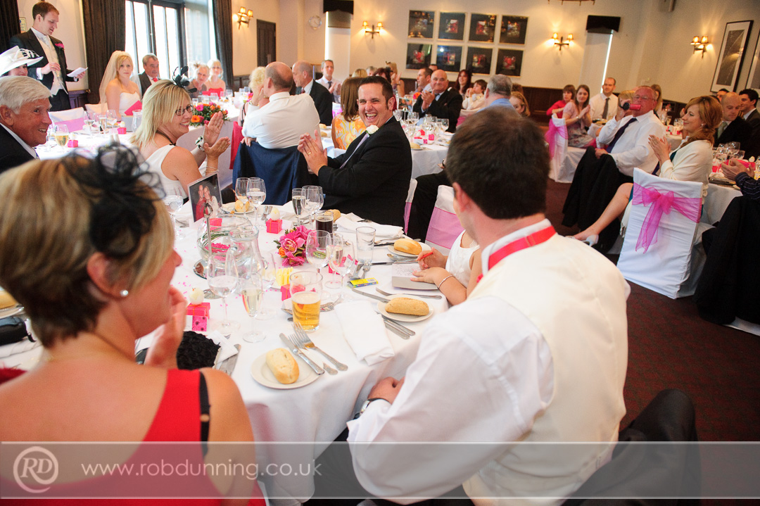 Hot pink wedding theme in the Arden Suite New Place Wedding Photography