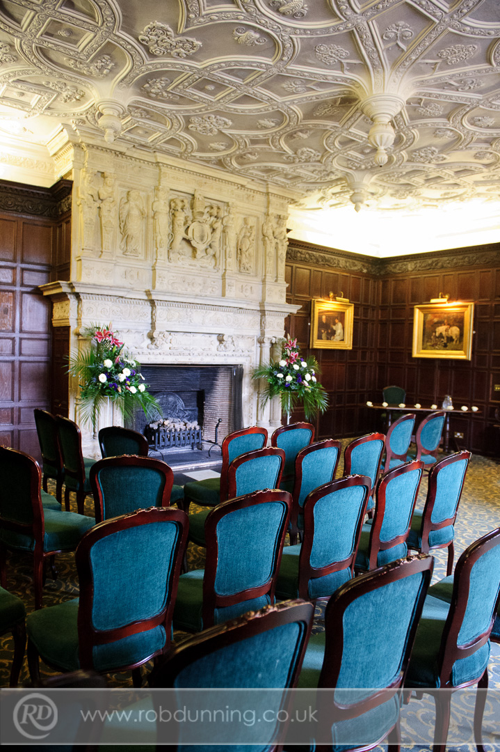 Bristol Room at New Place set for a civil ceremony - Southampton Wedding Photographer