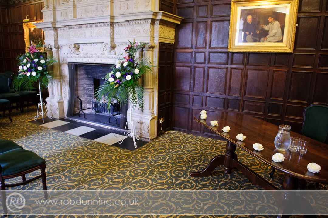 New Place Wedding Photography - The fireplace in the Bristol Room, New Place