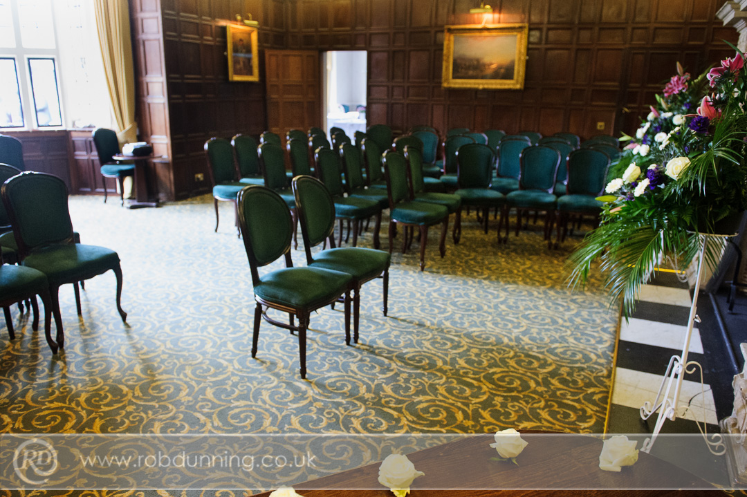 New Place Wedding Photography - The Bristol Room set for a civil ceremony