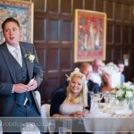 Bartley Lodge Wedding - The best man gets carried away delivering his speech.